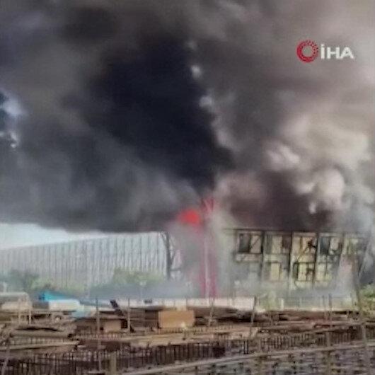 Tayvanda bulunan dünyanın 4'üncü büyük kömürlü santralinde yangın çıktı