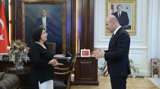 Mother, who started a child watch in Germany, was a guest of Minister Soylu