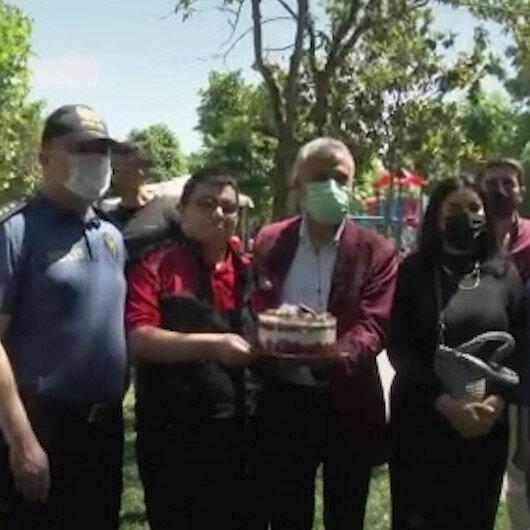 Polis olan Otizmli Kemalin doğum günü dileği: Arkadaşlarımı, polisleri Allah korusun