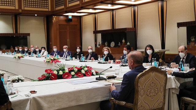 Cumhurbaşkanı Erdoğan müsilaja çözüm için düzenlenen toplantıya başkanlık etti