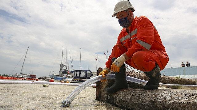 Müsilaj seferberliği: Marmara'dan iki günde 392 metreküp deniz salyası toplandı