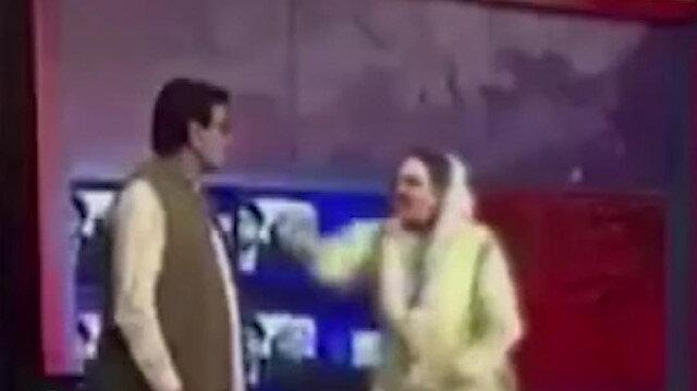 Pakistan'da eski bakan canlı yayında milletvekiline tokat attı