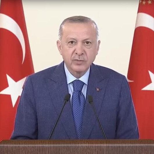 Cumhurbaşkanı Erdoğan Yukarı Afrin Barajının açılışına canlı bağlantı ile katıldı