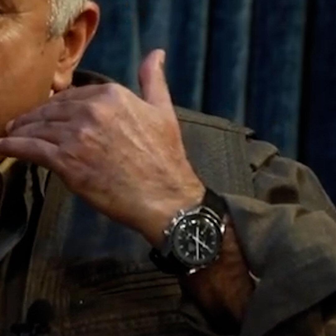 PKK elebaşı Murat Karayılan'ın kolundaki Omega Speedmaster saati.