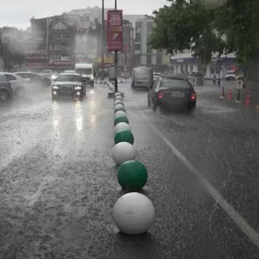 Kırklareli'nde sağanak yağış etkili oldu