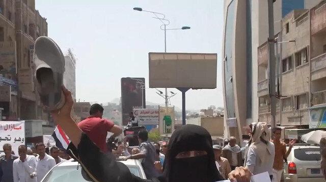 Taiz'e yönelik kuşatmanın uluslararası müzakere masasında olmaması protesto edildi