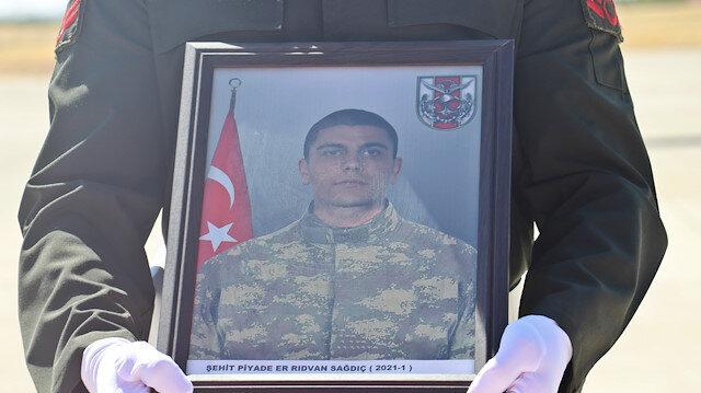 Şehit Er Rıdvan Sağdıç'ın cenazesi memleketi Tekirdağ'a uğurlandı