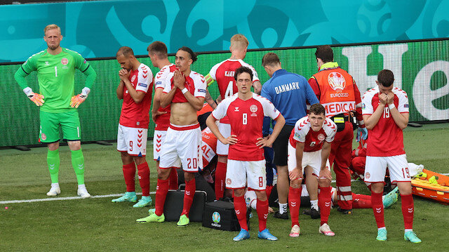 Danimarka-Finlandiya maçında Eriksen'in kalbi durdu