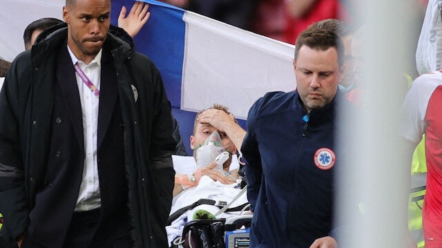 Danimarka-Finlandiya maçında Christian Eriksen ölümden döndü