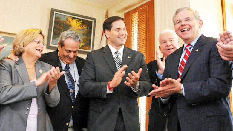 Marco Rubio ve Bob Menendez