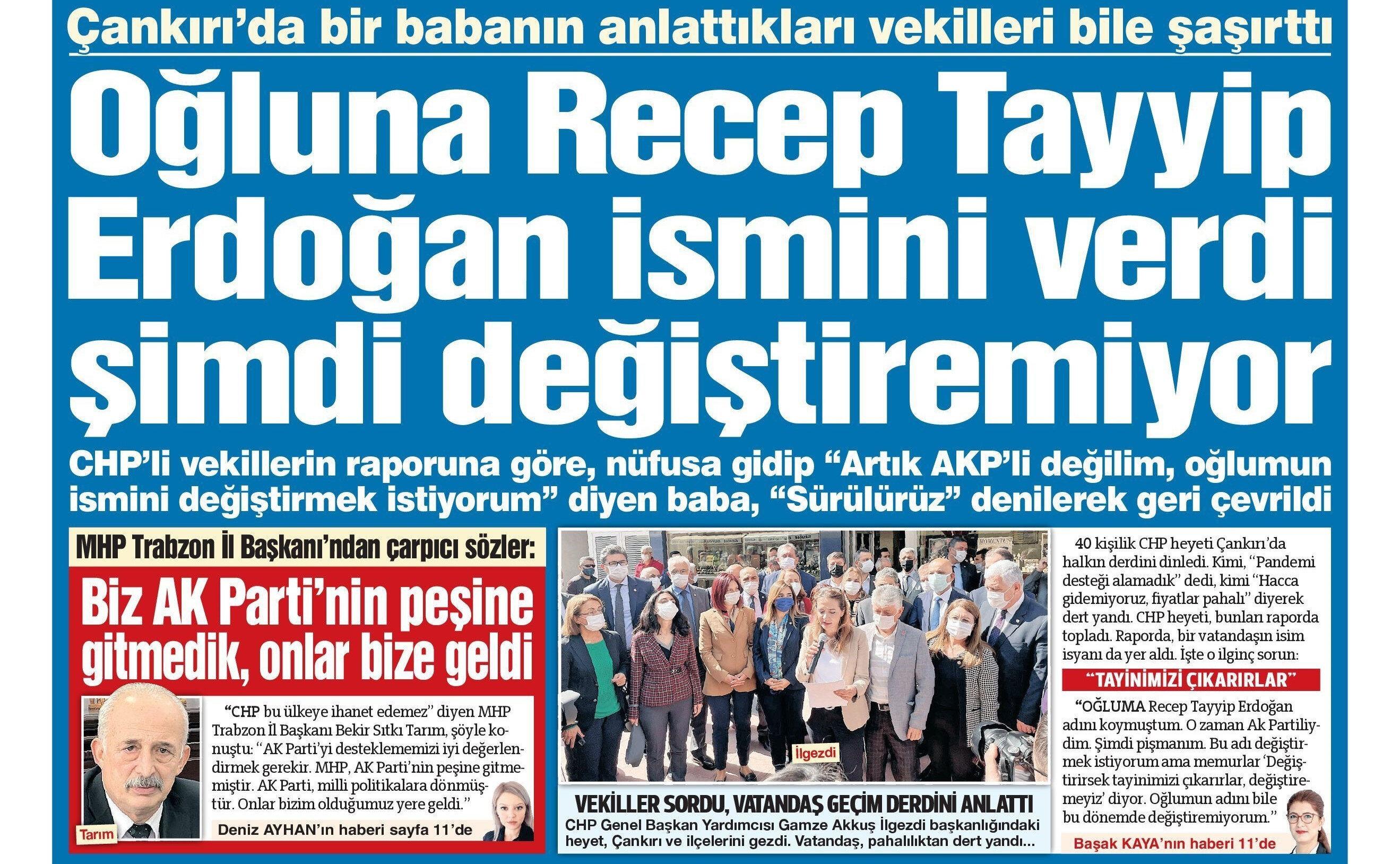 Sözcü gazetesinin haberi.