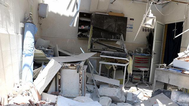 Terör örgütü PKK'nın Afrin'de saldırdığı hastane harabeye döndü