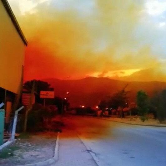 Antalyada kimyasal madde sızıntısı: Gökyüzü turuncuya boyandı