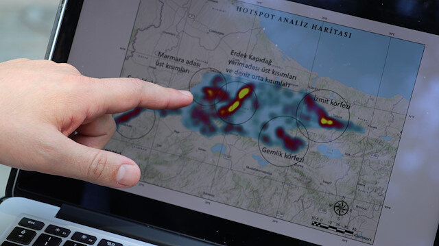Müsilajın yayılımının uydu görüntüleriyle takip edilebilmesi için 'kod' yazdılar