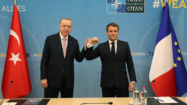 Fransa Cumhurbaşkanı Macron: Erdoğan'la Libya ve Suriye konusundaki ortak çıkarlarımızı görüştük