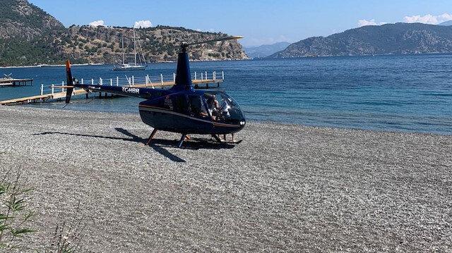 Plaja iniş yapan helikopterle ilgili SHGM harekete geçti: Açıklama istenecek