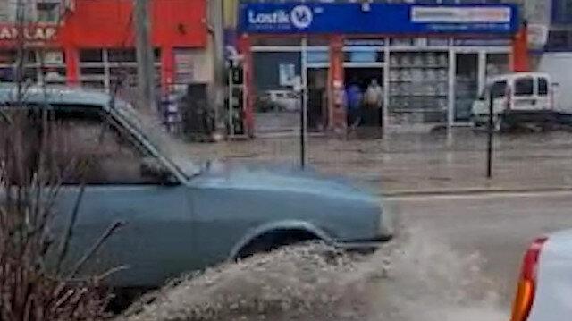 Karabük'te sağanak yağış etkili oldu