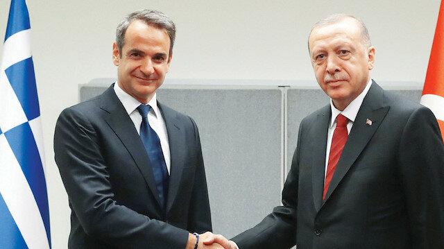 Cumhurbaşkanı Erdoğan Miçotakis görüşmesi sona erdi