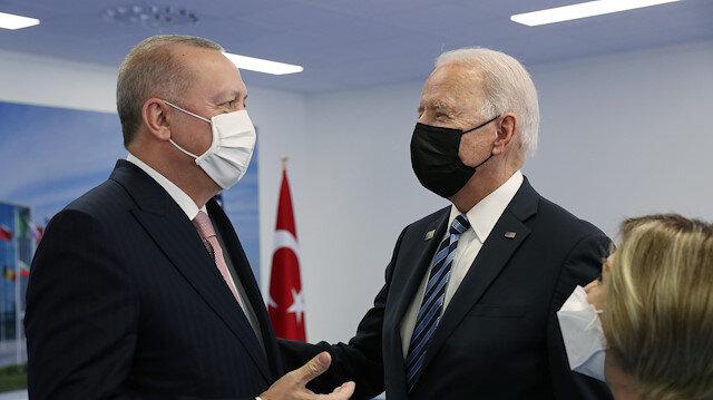 Cumhurbaşkanı Erdoğan ile Biden'ın görüşmesi sona erdi