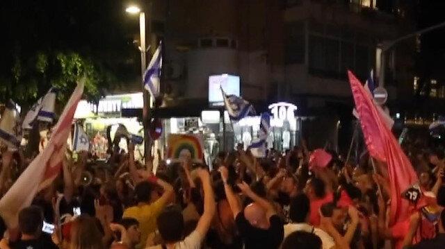 İsrailliler Netanyahu döneminin bitişini kutladı