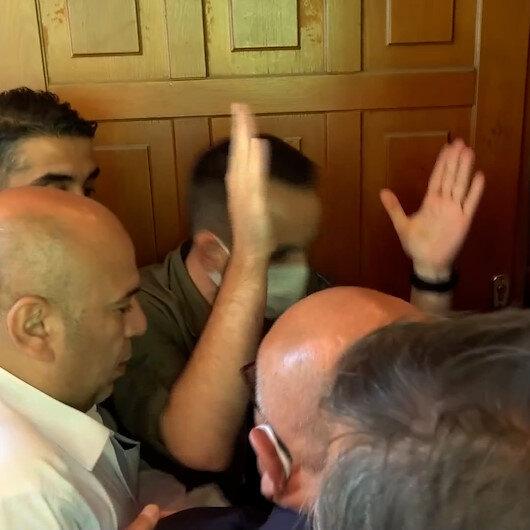 İYİ Partililerin makam odası mücadelesi korumaları çileden çıkardı