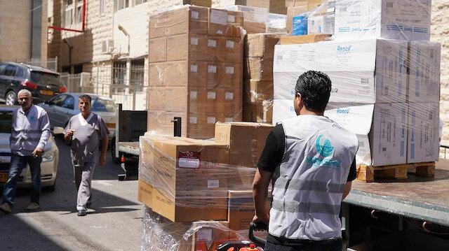 Mirasımız Derneği Doğu Kudüs'teki hastaneye ilaç ve tıbbi malzeme yardımı yaptı