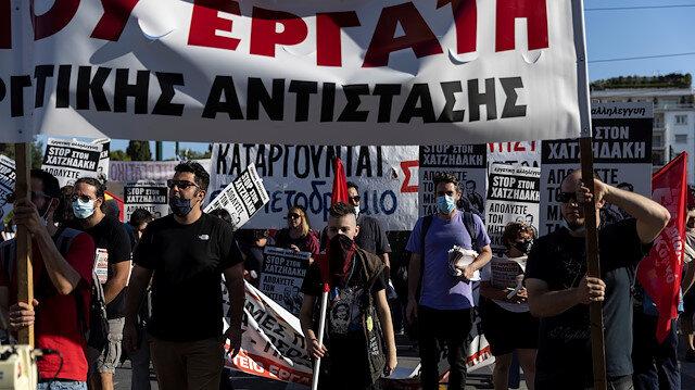 Yunanistan'da grev: Yeni çalışma yasa tasarısı protesto edildi