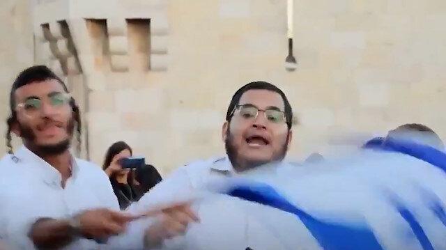 Kudüs'te İsrailli Siyonistlerin alçak sloganları: Muhammed öldü burası bizim, Araplara ölüm