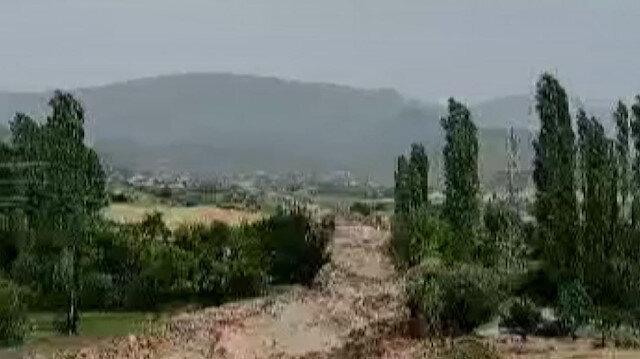 Yozgat'ta meydana gelen sel sulama kanallarına zarar verdi