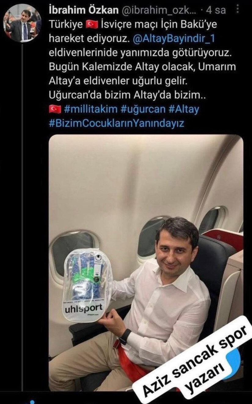 İyi Parti Grup Başkanvekili İbrahim Özkan'ın paylaşımı.