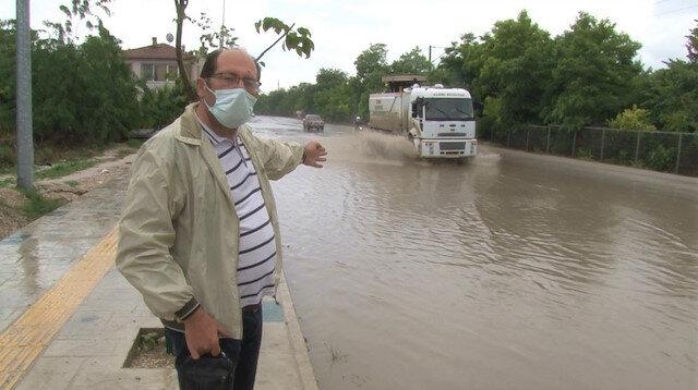 'Rezaleti çekin herkes görsün': Edirne'de yağmur sonrası yollar göle döndü vatandaş isyan etti