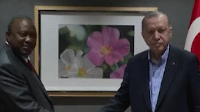 Cumhurbaşkanı Erdoğan Kenya Cumhurbaşkanı Uhuru Kenyatta ile görüştü
