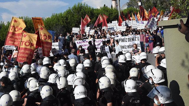 HDP binasına saldırıda öldürülen Deniz Poyraz'ın cenazesinde 'PKK' provokasyonu: Polis örgüt paçavralarına izin vermedi