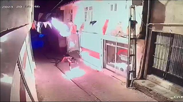 Diyarbakır'da AK Parti ilçe binasına molotoflu saldırı