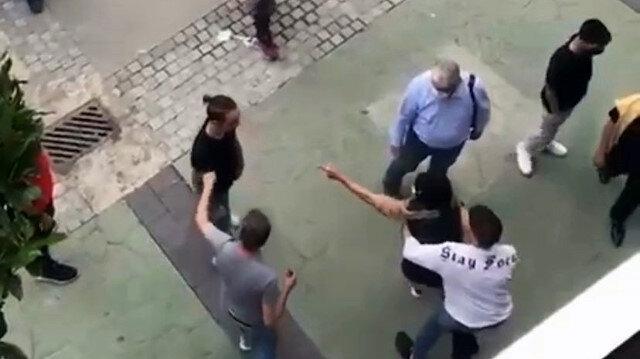 Caddede yürürken iş yerinde tartıştığı kişiyi gördü: Biranda çığlıklar atmaya başladı
