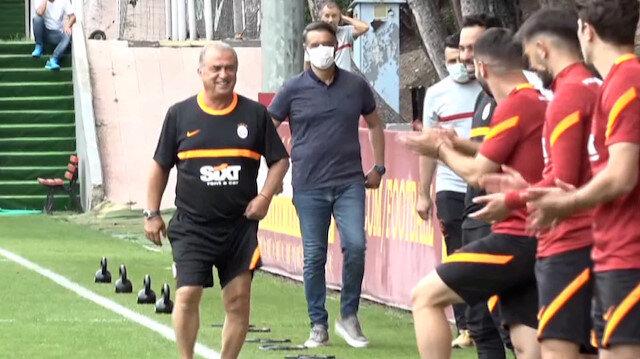 Fatih Terim yeniden Florya'da: Futbolcular ve teknik ekip alkışlarla karşıladı
