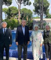 Cumhurbaşkanı Erdoğan ile görüştüler
