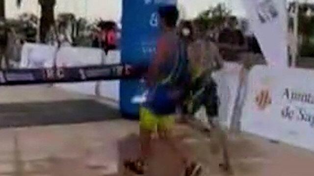 İspanya'da atlet kazandığını sandığı yarışı son anda kaybetti