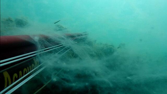 Çanakkale'de müsilajın deniz altındaki tedirgin edici görüntüleri kaydedildi