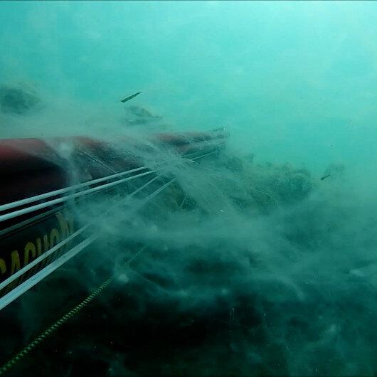 Çanakkalede müsilajın deniz altındaki tedirgin edici görüntüleri kaydedildi