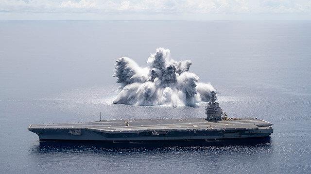 ABD Donanması'nın uçak gemisi dayanıklılık testinde deprem etkisi