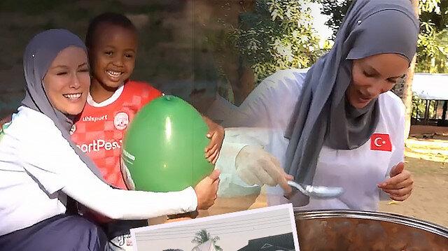Gamze Özçelik Tanzanyalı çocukların yüzünü güldürdü: Paylaşımıyla gönülleri fethetti