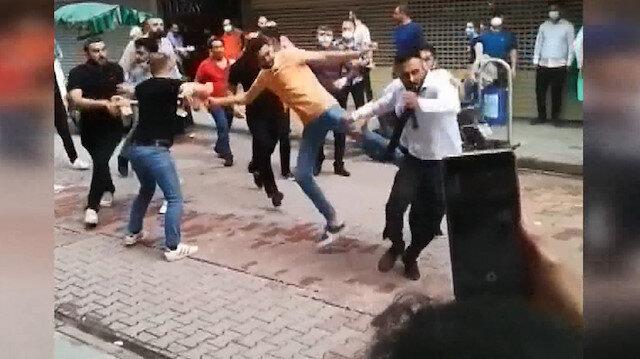 İzmit'te kuyumcuların tekme tokat kavgası kamerada