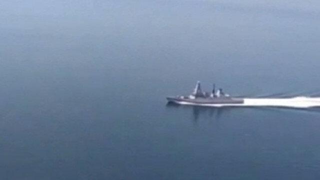 Rusya İngiliz savaş gemisinin görüntülerini yayınlandı: Uyarı atışının yapıldığı anlar ise yer almadı