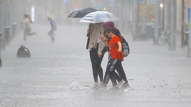 Meteorolojiden sağanak ve kuvvetli yağış uyarısı
