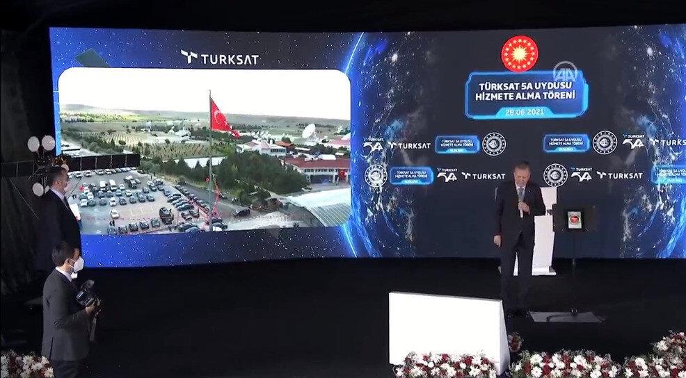 Türksat 5A uydusundan gelen ilk görüntü.