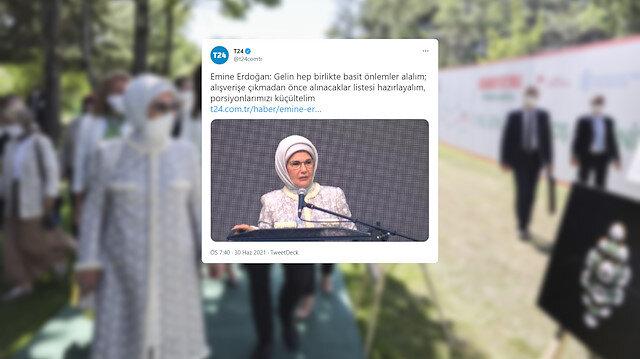 T24'den algı operasyonu: Emine Erdoğan'ın 'israf' mesajını çarpıttılar
