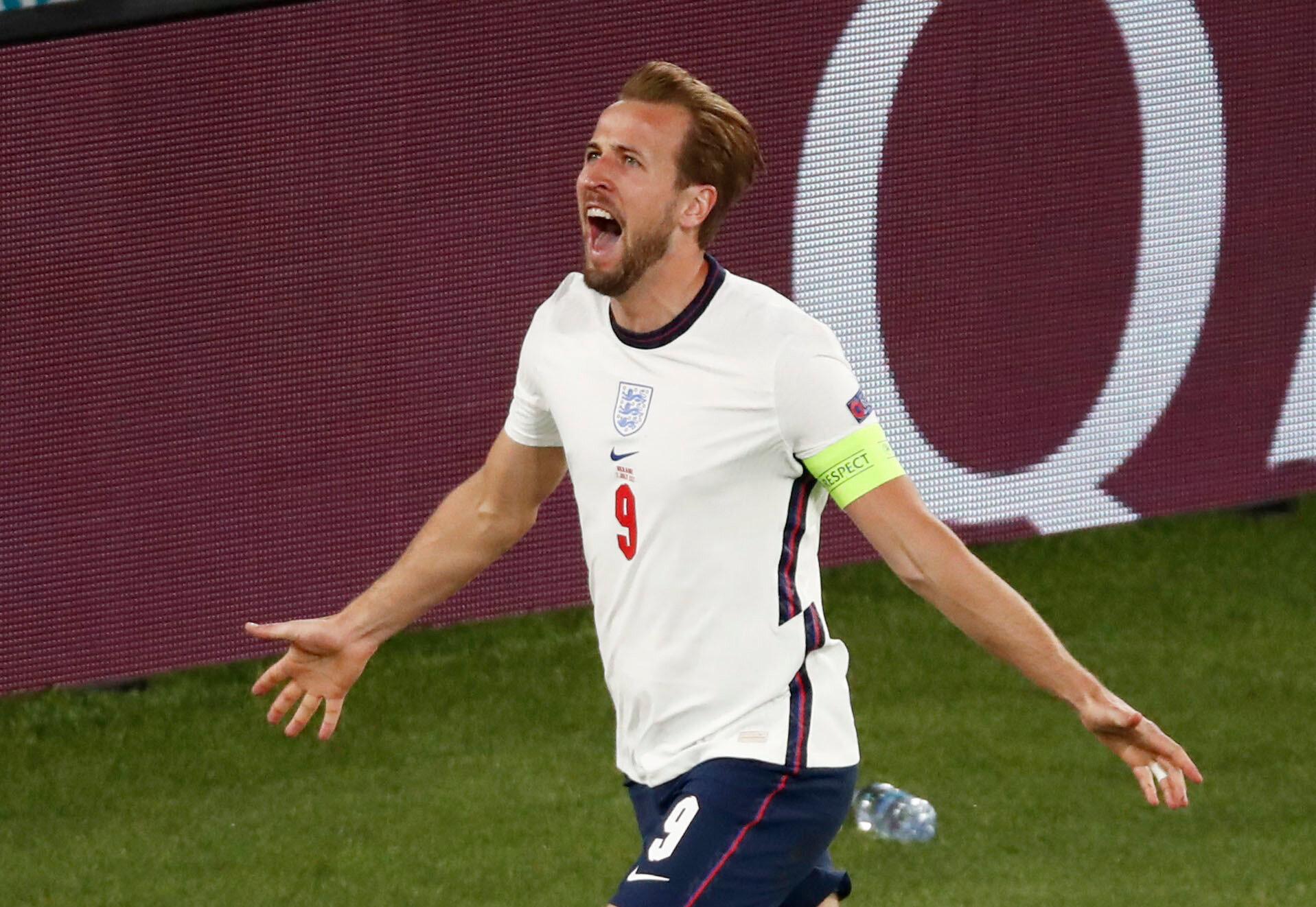 Harry Kane'in attığı gol sonrası yaşadığı sevinç.