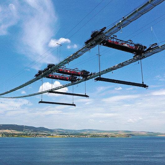 1915 Çanakkale Köprüsü'nün askı halat montajı başladı