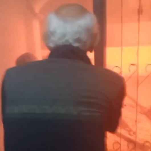 Bursada yangında dehşet anları: Alevlerin içinden böyle çıktılar